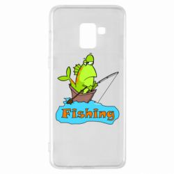 Чехол для Samsung A8+ 2018 Fish Fishing