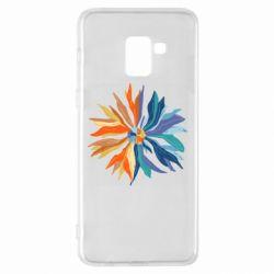 Чохол для Samsung A8+ 2018 Flower coat of arms of Ukraine