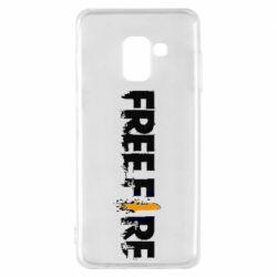 Чехол для Samsung A8 2018 Free Fire spray