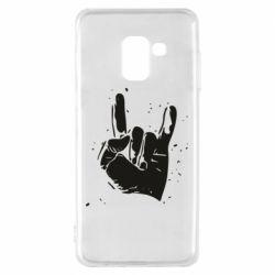 Чехол для Samsung A8 2018 HEAVY METAL ROCK