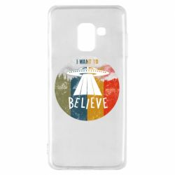 Чехол для Samsung A8 2018 I want to believe text