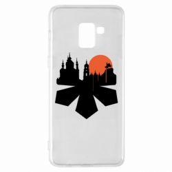 Чохол для Samsung A8+ 2018 Kiev city of chestnuts