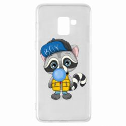 Чехол для Samsung A8+ 2018 Little raccoon