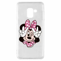 Чохол для Samsung A8 2018 Minnie Mouse