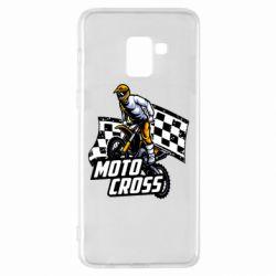 Чехол для Samsung A8+ 2018 Motocross