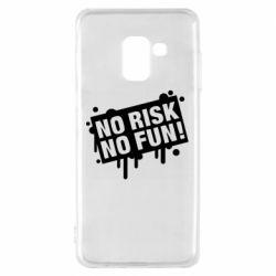 Чохол для Samsung A8 2018 No Risk No Fun