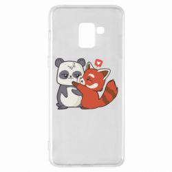 Чохол для Samsung A8+ 2018 Panda and fire panda