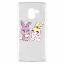 Чохол для Samsung A8 2018 Rabbits In Love