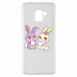 Чохол для Samsung A8+ 2018 Rabbits In Love