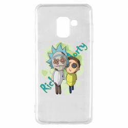 Чохол для Samsung A8 2018 Rick and Morty voodoo doll