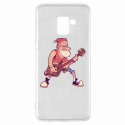 Чохол для Samsung A8+ 2018 Rock'n'roll Santa
