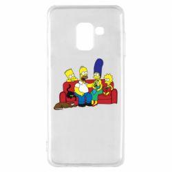 Чехол для Samsung A8 2018 Simpsons At Home