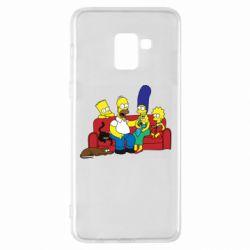 Чехол для Samsung A8+ 2018 Simpsons At Home