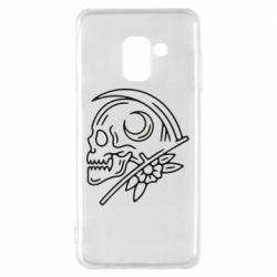 Чохол для Samsung A8 2018 Skull with scythe