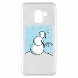 Чохол для Samsung A8 2018 Snowman. It's Cold!