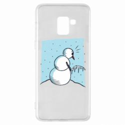 Чохол для Samsung A8+ 2018 Snowman. It's Cold!