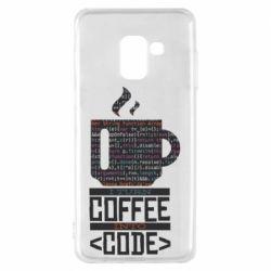 Чохол для Samsung A8 2018 Сoffee code