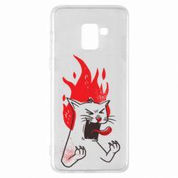 Чохол для Samsung A8+ 2018 The cat is mad