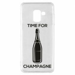 Чохол для Samsung A8 2018 Time for champagne