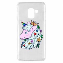 Чохол для Samsung A8 2018 Unicorn Princess