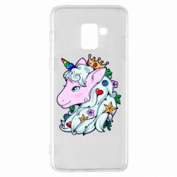 Чохол для Samsung A8+ 2018 Unicorn Princess