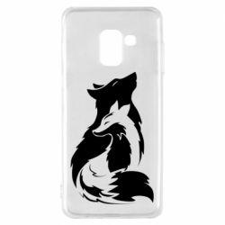 Чехол для Samsung A8 2018 Wolf And Fox