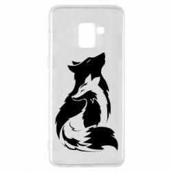 Чехол для Samsung A8+ 2018 Wolf And Fox