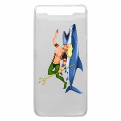 Чехол для Samsung A80 Aquaman with a shark