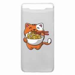 Чохол для Samsung A80 Cat and Ramen
