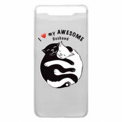Чехол для Samsung A80 Cats and love