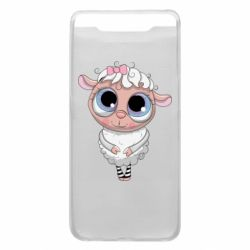 Чехол для Samsung A80 Cute lamb with big eyes