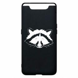 Чохол для Samsung A80 Cute raccoon face