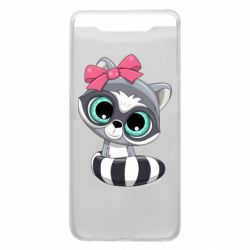 Чехол для Samsung A80 Cute raccoon