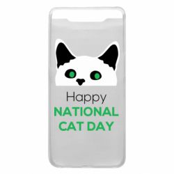 Чехол для Samsung A80 Happy National Cat Day