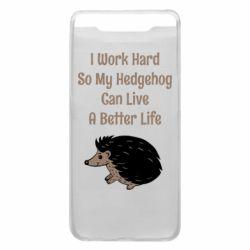 Чехол для Samsung A80 Hedgehog with text