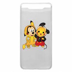 Чехол для Samsung A80 Mickey and Pikachu