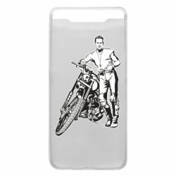 Чехол для Samsung A80 Mickey Rourke and the motorcycle