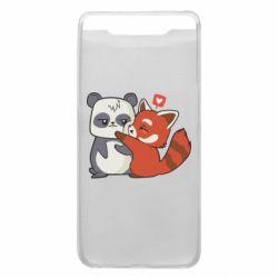 Чохол для Samsung A80 Panda and fire panda