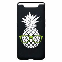 Чехол для Samsung A80 Pineapple with glasses