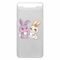 Чохол для Samsung A80 Rabbits In Love