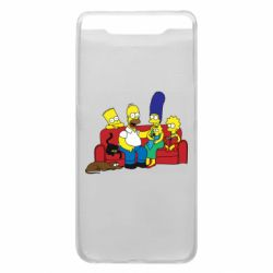 Чехол для Samsung A80 Simpsons At Home