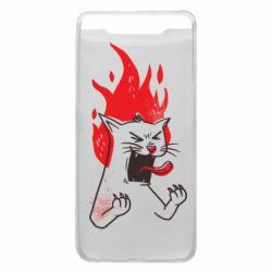 Чохол для Samsung A80 The cat is mad