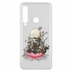 Чехол для Samsung A9 2018 A skeleton sitting on a lotus