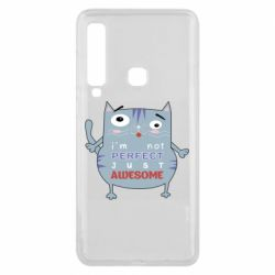 Чехол для Samsung A9 2018 Cute cat and text