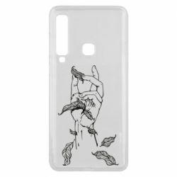Чохол для Samsung A9 2018 Hand with leafs