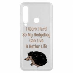 Чехол для Samsung A9 2018 Hedgehog with text