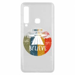 Чехол для Samsung A9 2018 I want to believe text