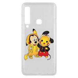 Чехол для Samsung A9 2018 Mickey and Pikachu