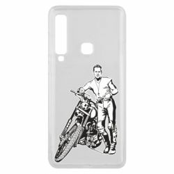Чехол для Samsung A9 2018 Mickey Rourke and the motorcycle