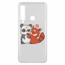 Чохол для Samsung A9 2018 Panda and fire panda